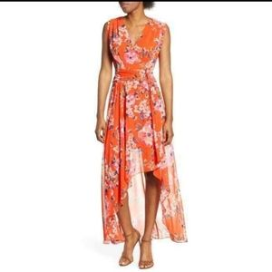 Eliza J High Low Floral Sleeveless Maxi Dress